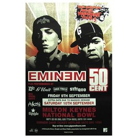 Eminem - 50 Cent - The Anger Management Tour - AFFICHE / POSTER envoi en tube