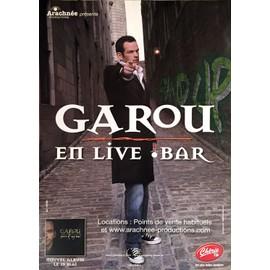 Garou - En live - bar - AFFICHE / POSTER envoi en tube