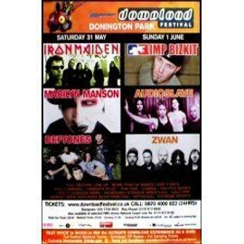 IRON MAIDEN - Marilyn Manson - Download Festival - AFFICHE / POSTER envoi en tube