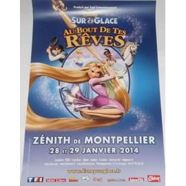 Disney Sur Glace - Princesse -Raiponce - AFFICHE / POSTER envoi en tube