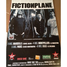 Fiction Plane - - AFFICHE / POSTER envoi en tube