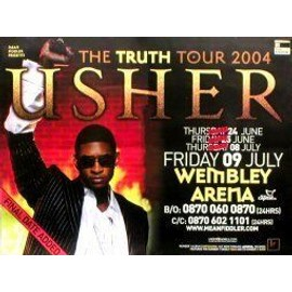 USHER - Wembley 2004 GIANT - AFFICHE / POSTER envoi en tube