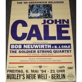 John Cale - Greewich 1999 - AFFICHE / POSTER envoi en tube