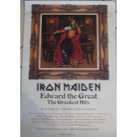 Iron Maiden - Edward The Great - AFFICHE / POSTER envoi en tube