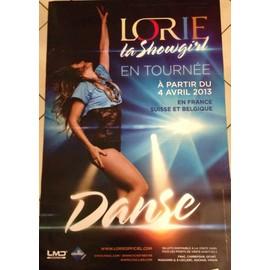 Lorie - La Showgirl - AFFICHE / POSTER envoi en tube