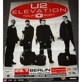 U2 - Elevation Tour - AFFICHE / POSTER envoi en tube