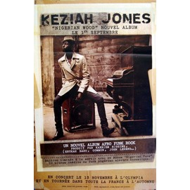 Keziah Jones - Nigerian Wood  - AFFICHE / POSTER envoi en tube