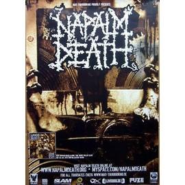 Napalm Death - - AFFICHE / POSTER envoi en tube