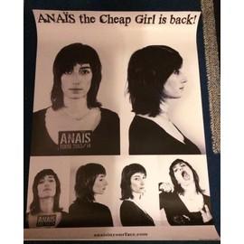 Anaïs - The Cheap Girl Is Back - AFFICHE / POSTER envoi en tube