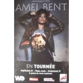 Amel BENT - En tournée - AFFICHE / POSTER envoi en tube