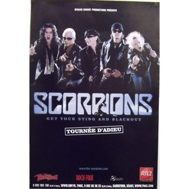 SCORPIONS - Get Your Sting and Blackout - AFFICHE / POSTER envoi en tube