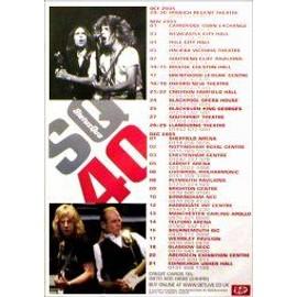 STATUS QUO - SQ40 2005 - Original Promo Poster - AFFICHE / POSTER envoi en tube