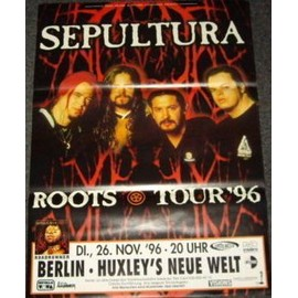 Sepultura - Roots Tour 1996 - AFFICHE / POSTER envoi en tube