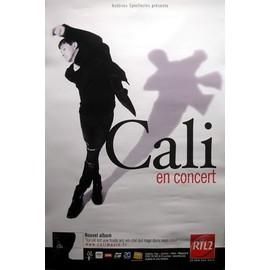 CALI - En Concert - AFFICHE / POSTER envoi en tube