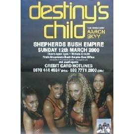 Destiny's Child - Shepherds Bush Empire, London 12.3.2000 (Q) (K) - AFFICHE / POSTER envoi en tube