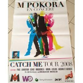 M POKORA - Catch Me Tour - AFFICHE / POSTER envoi en tube