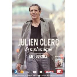Julien CLERC - Symphonique - AFFICHE / POSTER envoi en tube