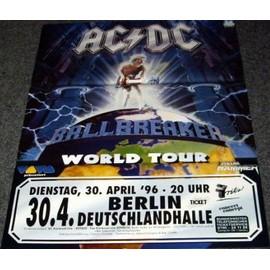 AC/DC - Ballbreaker - Berlin 96 - AFFICHE / POSTER envoi en tube