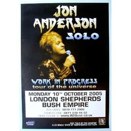 Jon ANDERSON - YES - Work In Progress - AFFICHE / POSTER envoi en tube