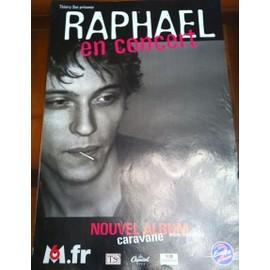 Raphael - Caravane - AFFICHE / POSTER envoi en tube
