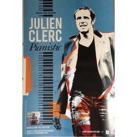 Julien CLerc - Pianistic - AFFICHE / POSTER envoi en tube