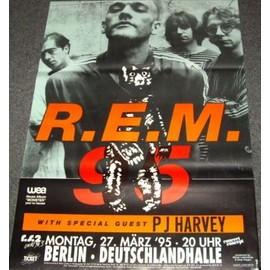 REM - R.E.M - Tour 1995 - AFFICHE / POSTER envoi en tube