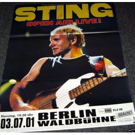 Sting - Open Air Live 2001 - AFFICHE / POSTER envoi en tube