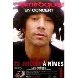 JAMIROQUAI - Arena de Nimes, France 22nd July 2005 - Original Promo Poster - AFFICHE / POSTER envoi en tube