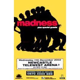 MADNESS - Newcastle Arena 2002 - AFFICHE / POSTER envoi en tube