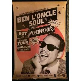 Ben l'Oncle Soul - and Monophonics - AFFICHE / POSTER envoi en tube