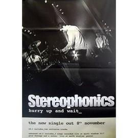 Stereophonics - Hurry Up & Wait - AFFICHE / POSTER envoi en tube