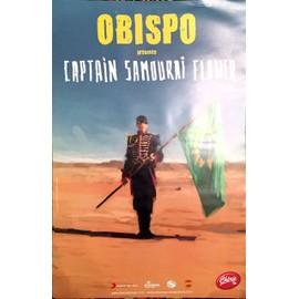 Pascal Obispo - Captain Samourai Flower Tour - AFFICHE / POSTER envoi en tube