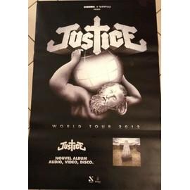 Justice - World Tour 2012 - AFFICHE / POSTER envoi en tube