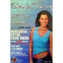 SHANIA TWAIN - Up! Tour - AFFICHE / POSTER envoi en tube