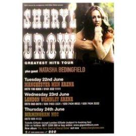 Sheryl CROW - UK Tour June 2004 (Q) (K) - AFFICHE / POSTER envoi en tube