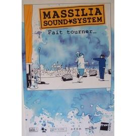 Massilia Sound System - Fait Tourner¿  - AFFICHE / POSTER envoi en tube