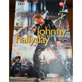 Johnny HALLYDAY -  - AFFICHE / POSTER envoi en tube