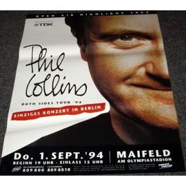 Phil Collins - Both Sides Tour 1994 - AFFICHE / POSTER envoi en tube