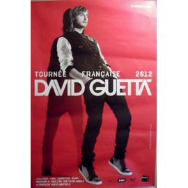 David GUETTA - - AFFICHE / POSTER envoi en tube
