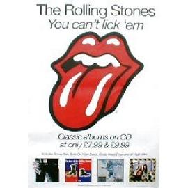 ROLLING STONES - You can't lick 'em - Original Promo Poster - AFFICHE / POSTER envoi en tube