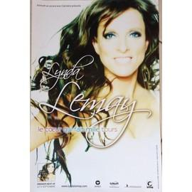 Lynda LEMAY - Le C¿ur Qui Fait Mille Tours - AFFICHE / POSTER envoi en tube