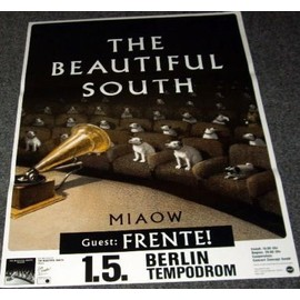 The Beautiful South - Miaow - AFFICHE / POSTER envoi en tube