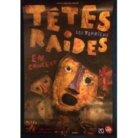 Têtes Raides - Les Terriens - AFFICHE / POSTER envoi en tube