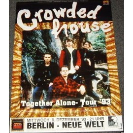 Crowded House - Together Alone 1993 - AFFICHE / POSTER envoi en tube