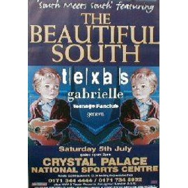 The Beautiful South - Crystal Palace 5/7/97 + TEXAS - AFFICHE / POSTER envoi en tube