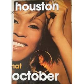 Whitney Houston - October - AFFICHE / POSTER envoi en tube