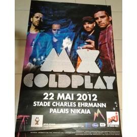 COLDPLAY - MX TOUR - AFFICHE / POSTER envoi en tube