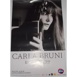 Carla BRUNI - - AFFICHE / POSTER envoi en tube