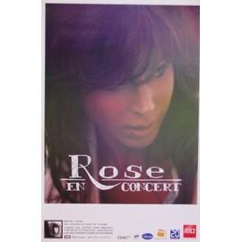 Rose - En Concert - AFFICHE / POSTER envoi en tube