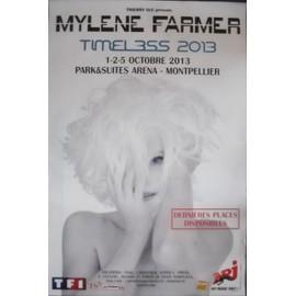 Mylene FARMER - Timeless 2013 - AFFICHE / POSTER envoi en tube